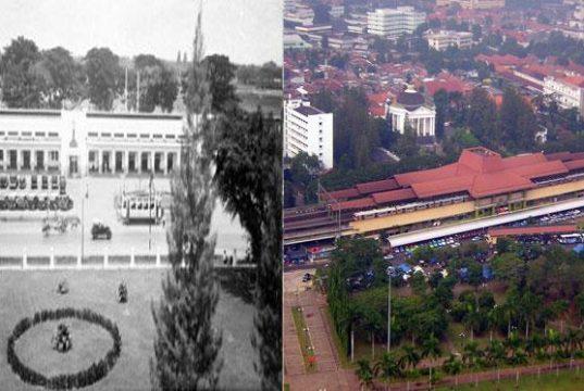 Stasiun Gambir dulu dan sekarang (foto: Bintang.com)
