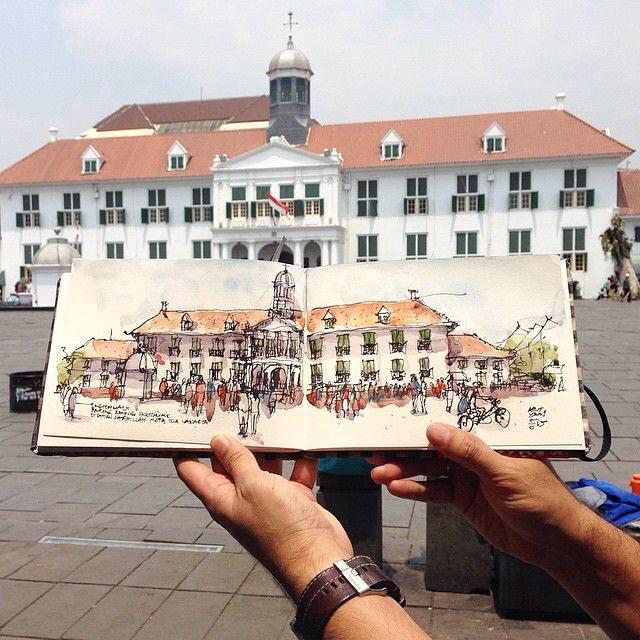 Kota Tua Jakarta (foto: Instagram @kotatuajakarta)